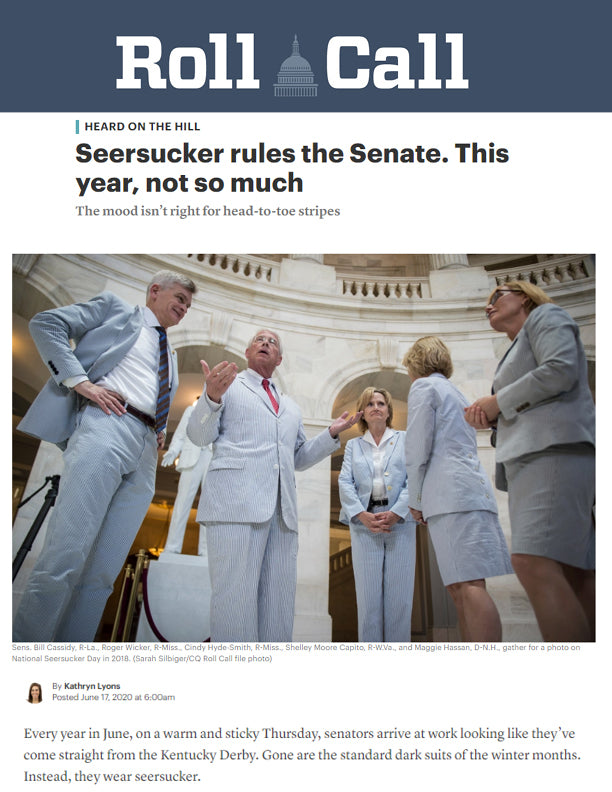 Seersucker rules the Senate. This year, not so much | RollCall | June 2020