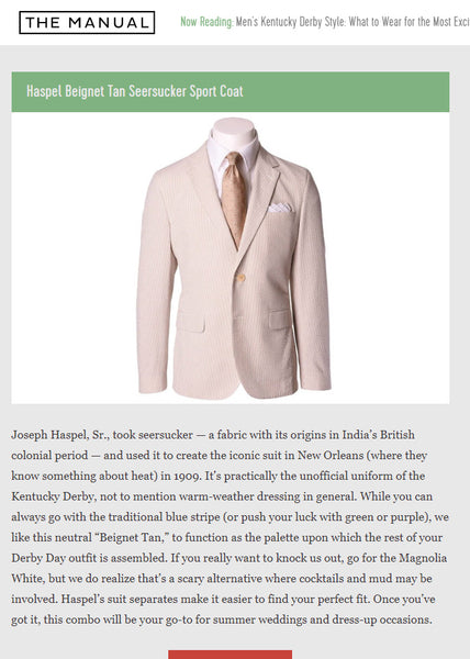 Kentucky Derby Style For Men | THE MANUAL | APRIL 2019