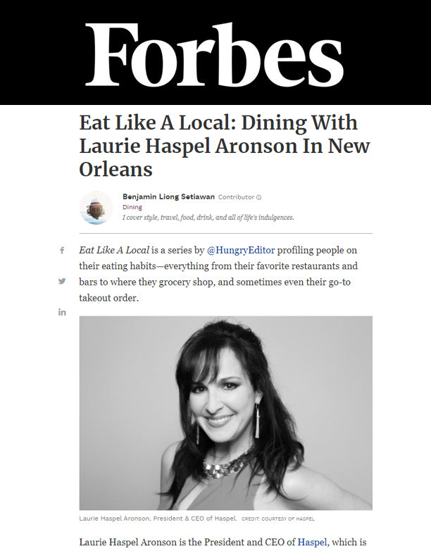 Eat Like A Local | FORBES | DECEMBER 2019