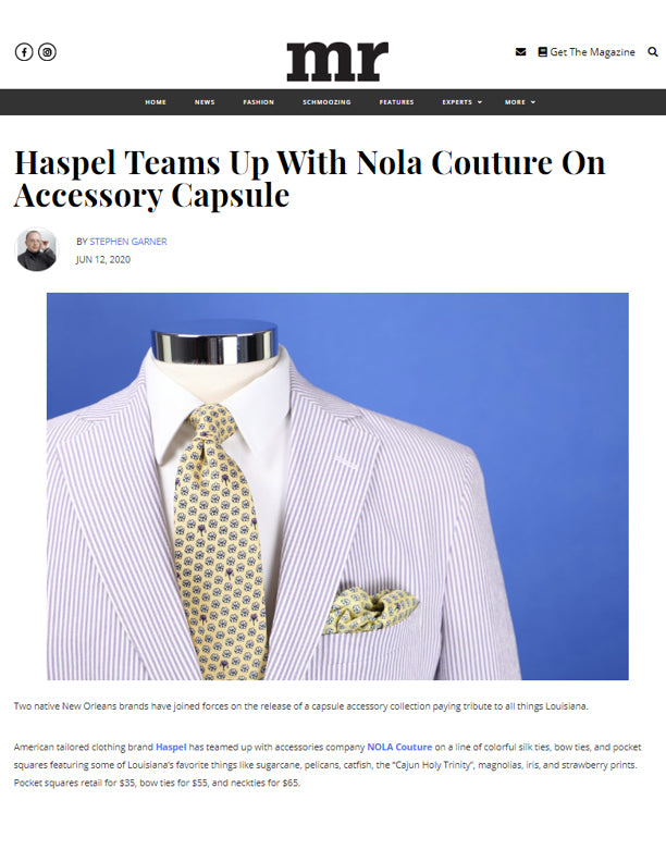 Haspel Teams Up With Nola Couture On Accessory Capsule | MR | JUNE 2020