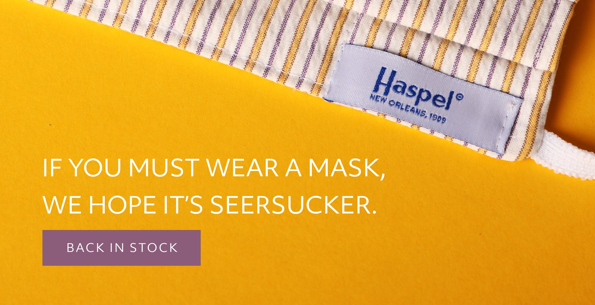 Seersucker Face Mask Accessories Haspel