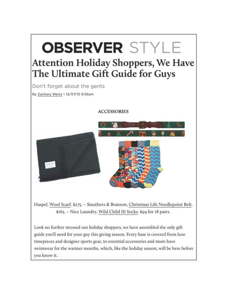 observer.com features Haspel in Holiday Shoppers Gift Guide