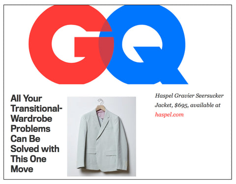 gq.com features Haspel's seersucker jacket