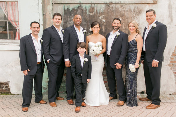 Groom and Groomsmen wear Haspel for a wedding in New Orleans