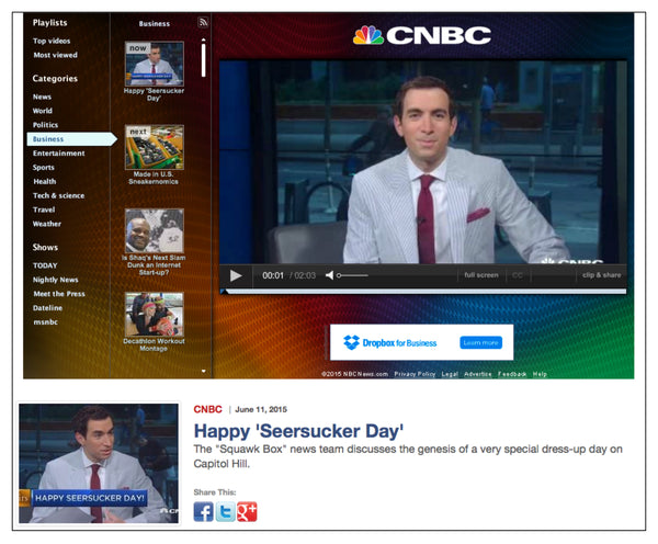 nbcnews.com features National Seersucker Day