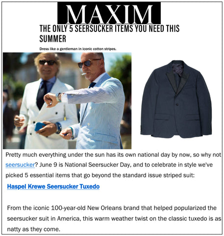 maxim.com features Haspel in the only 5 seersucker items you need this summer