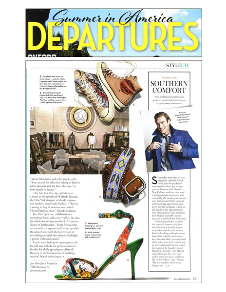 Departures feature Haspel in Southern Comfort article