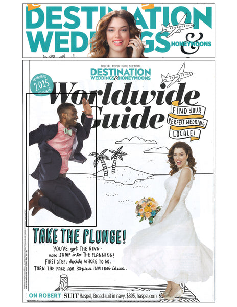 Destination Weddings feature Haspel Broad suit in navy