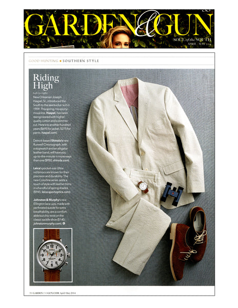 gardenandgun.com feature Haspel suit