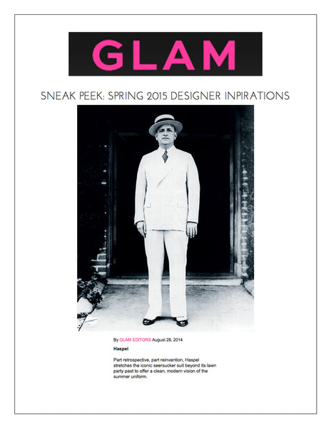 glam.com shows sneak peek of Haspel's Spring 2015 collection