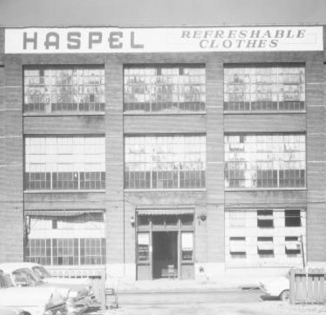 Haspel broad st factory in New Orleans. The original seersucker suit company.