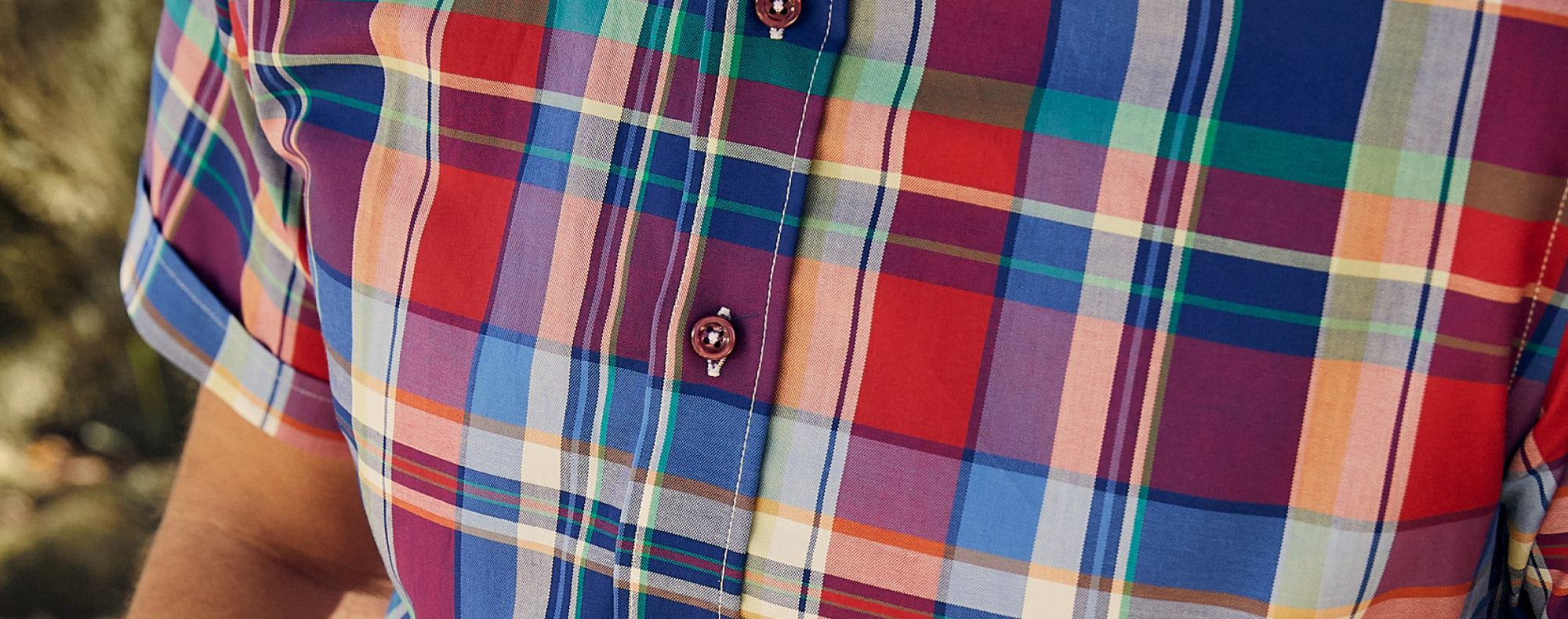 Haspel Nicholson BBQ Plaid camp shirt for men by the originator of the seersucker suit.