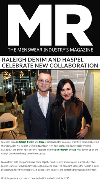 mr-mag.com features Haspel and Raleigh Denim's collaboration