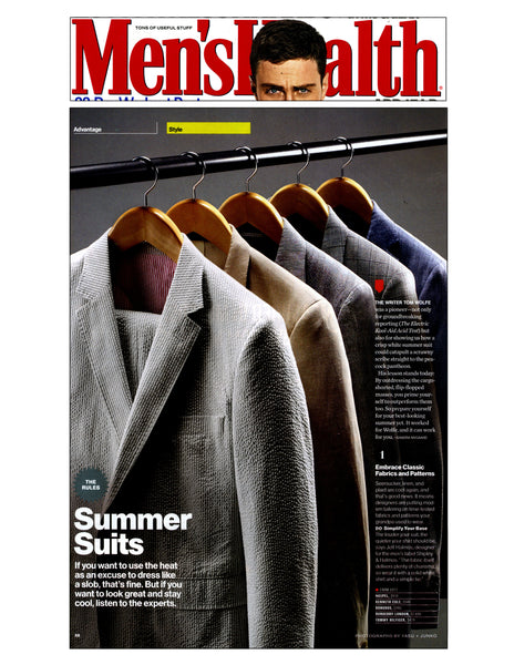 Men's Health features Haspel summer suits