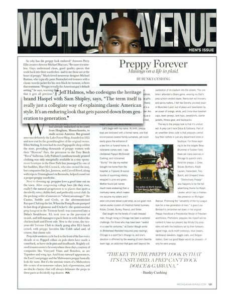 Michigan Avenue Magazine features Haspel