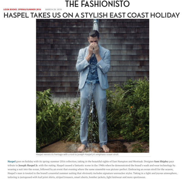 thefashionisto.com features Haspel's spring/summer 2016 collection