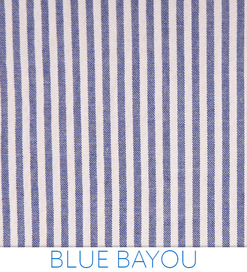 Blue Bayou Seersucker - Classic White and Bold Blue from Haspel