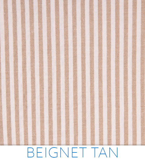 Haspel Beignet Seersucker - White and tan seersucker stripes from Haspel