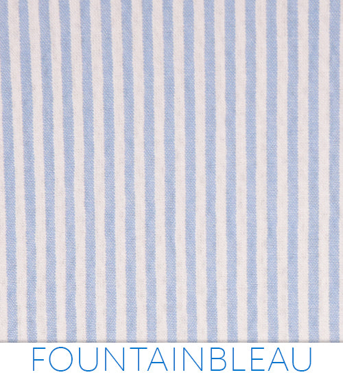 Fountainbleau Seersucker - Classic White and Blue from Haspel