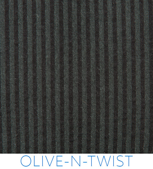 Olive-N-Twist Green & Black Seersucker