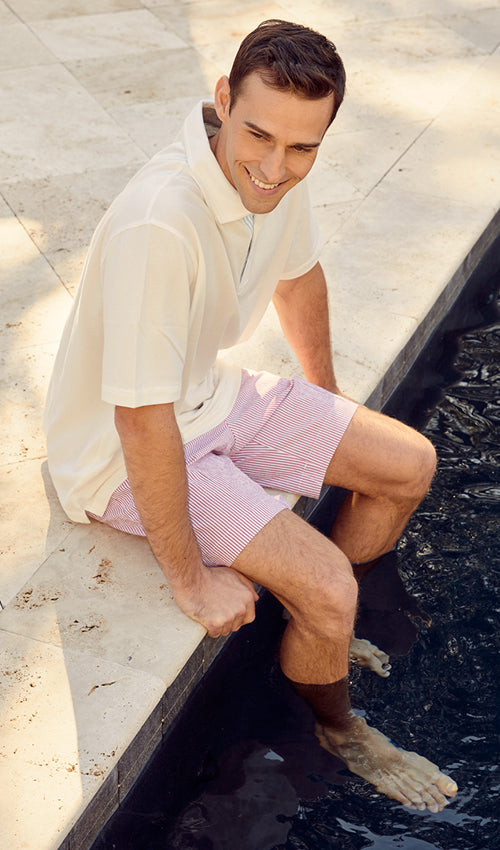Preppy style for everyday by Haspel. Top quality Italian seersucker shorts by the original.