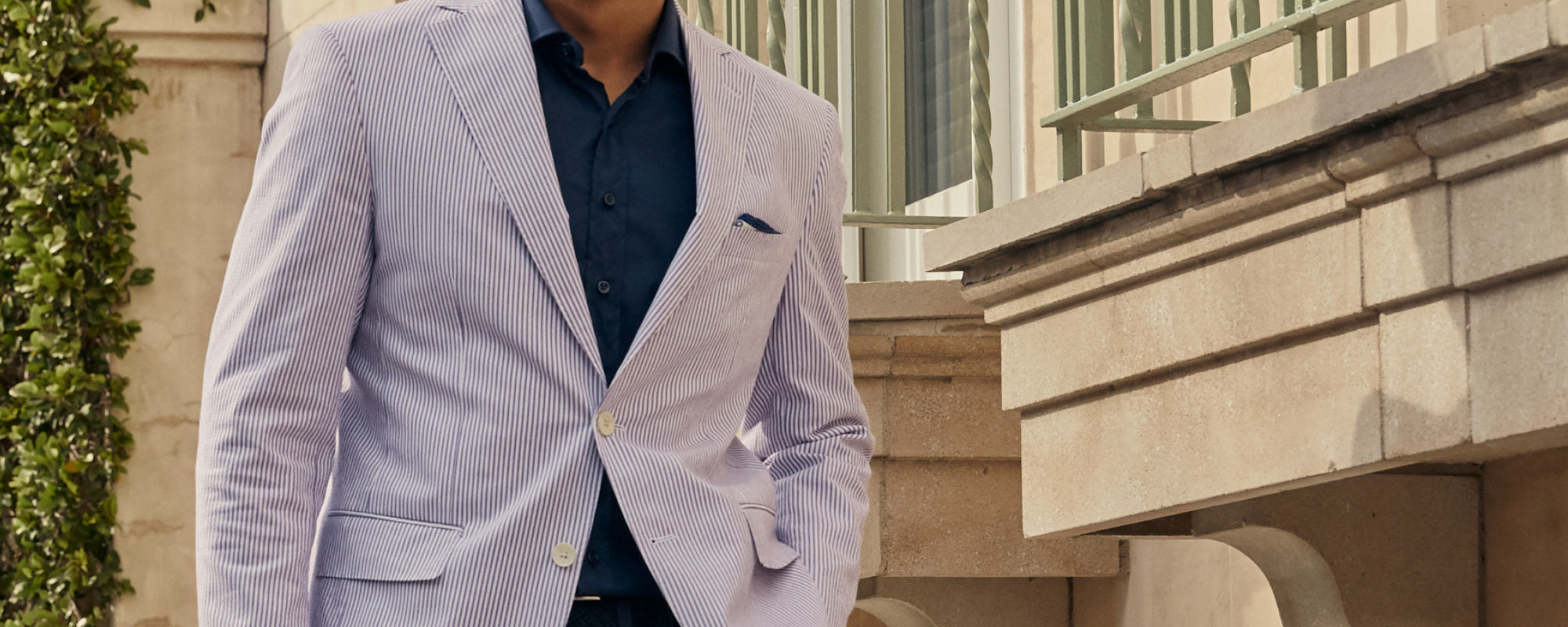Seersucker sport coats, blazers and jackets. By Haspel, the original seersucker suit. Made in America with top quality Italian seersucker material.