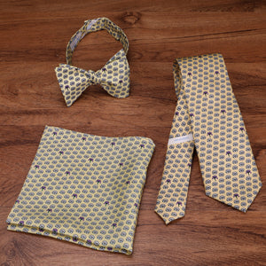 Limited Edition NOLA Couture X Haspel Yellow Magnolia Print Pocket Square - O/S