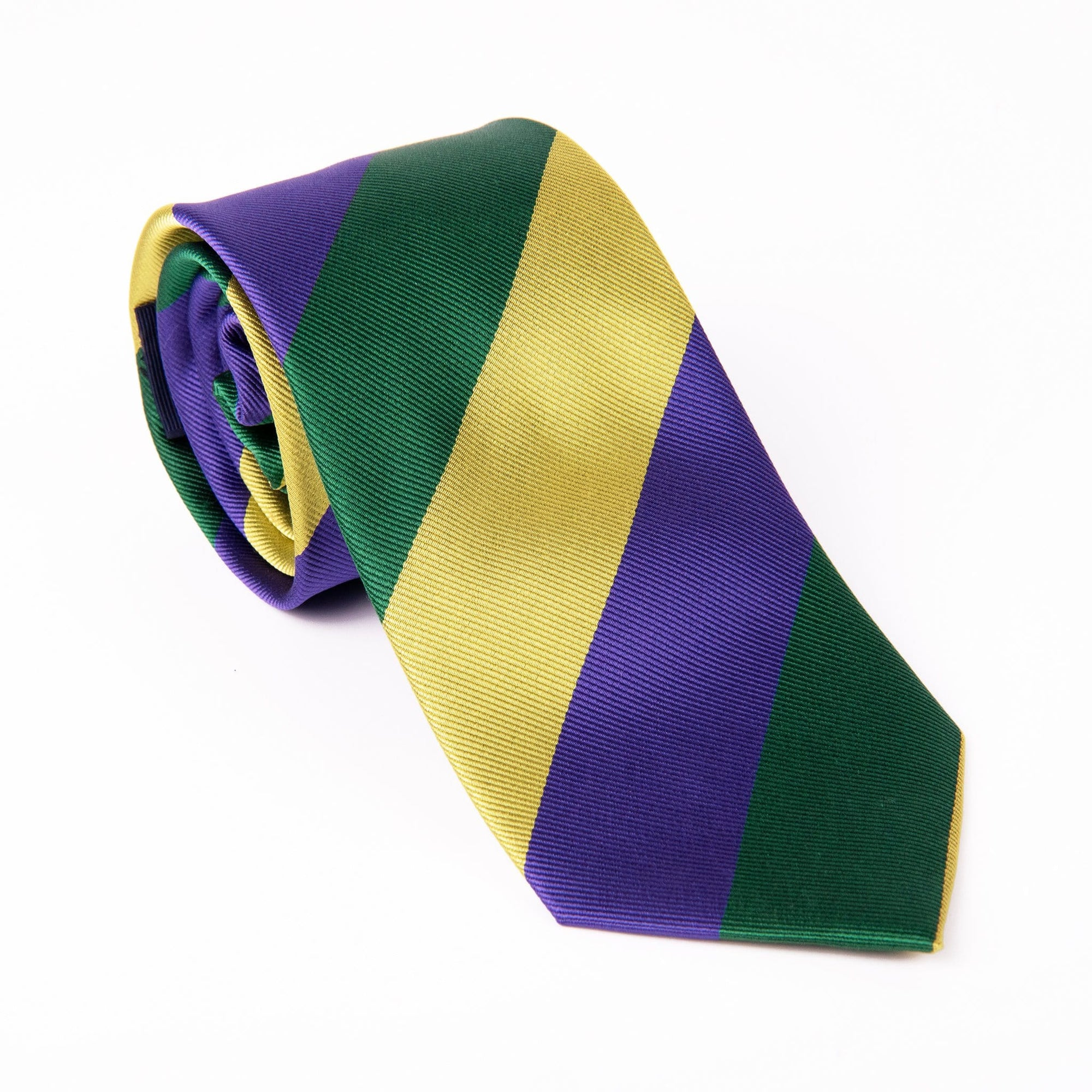 Mardi Gras Wide Stripe Tie - Haspel Clothing