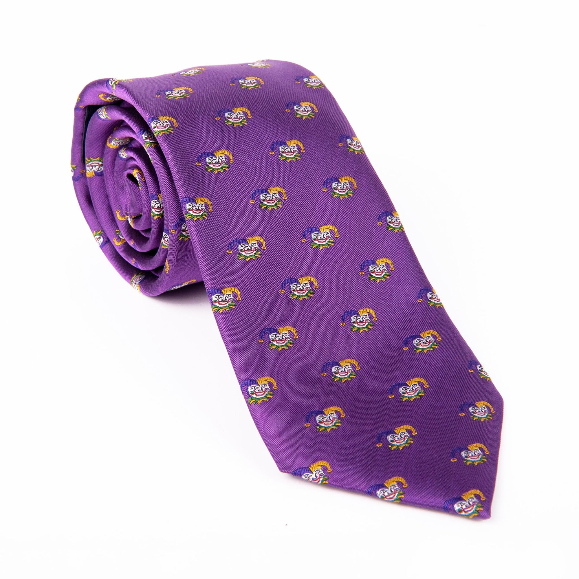Purple Mardi Gras Jester Tie - Haspel Clothing