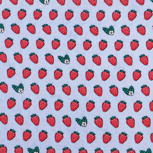 Limited Edition NOLA Couture X Haspel Lt. Blue Strawberry Print Pocket Square - O/S
