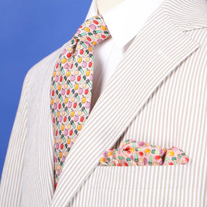 Limited Edition NOLA Couture X Haspel Pink Holy Trinity Print Tie - O/S