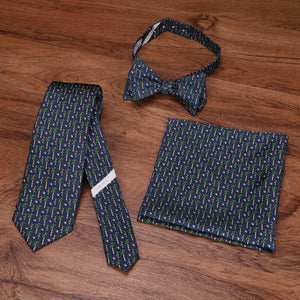 Limited Edition NOLA Couture X Haspel Navy Sugarcane Print Bow Tie - O/S