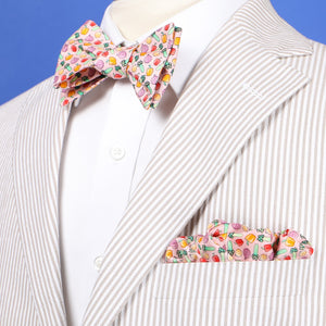 Limited Edition NOLA Couture X Haspel Pink Holy Trinity Print Bow Tie - O/S