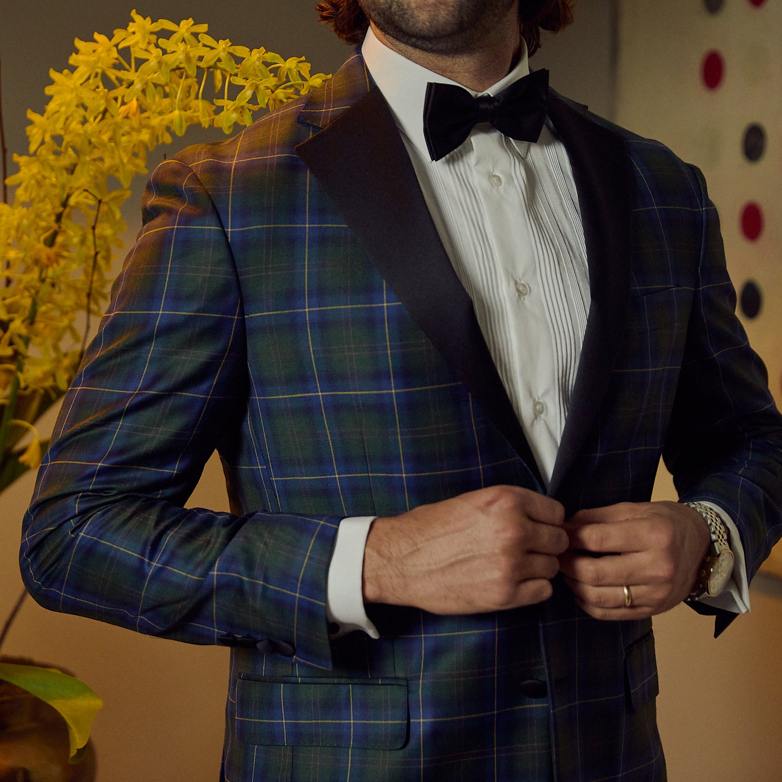 Audubon Tartan Plaid Dinner Jacket