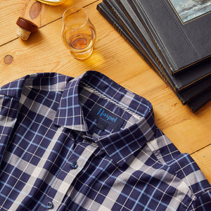 Audubon Navy & White Plaid