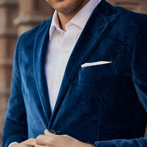 Nightfall Navy Roosevelt Velvet Sport Coat