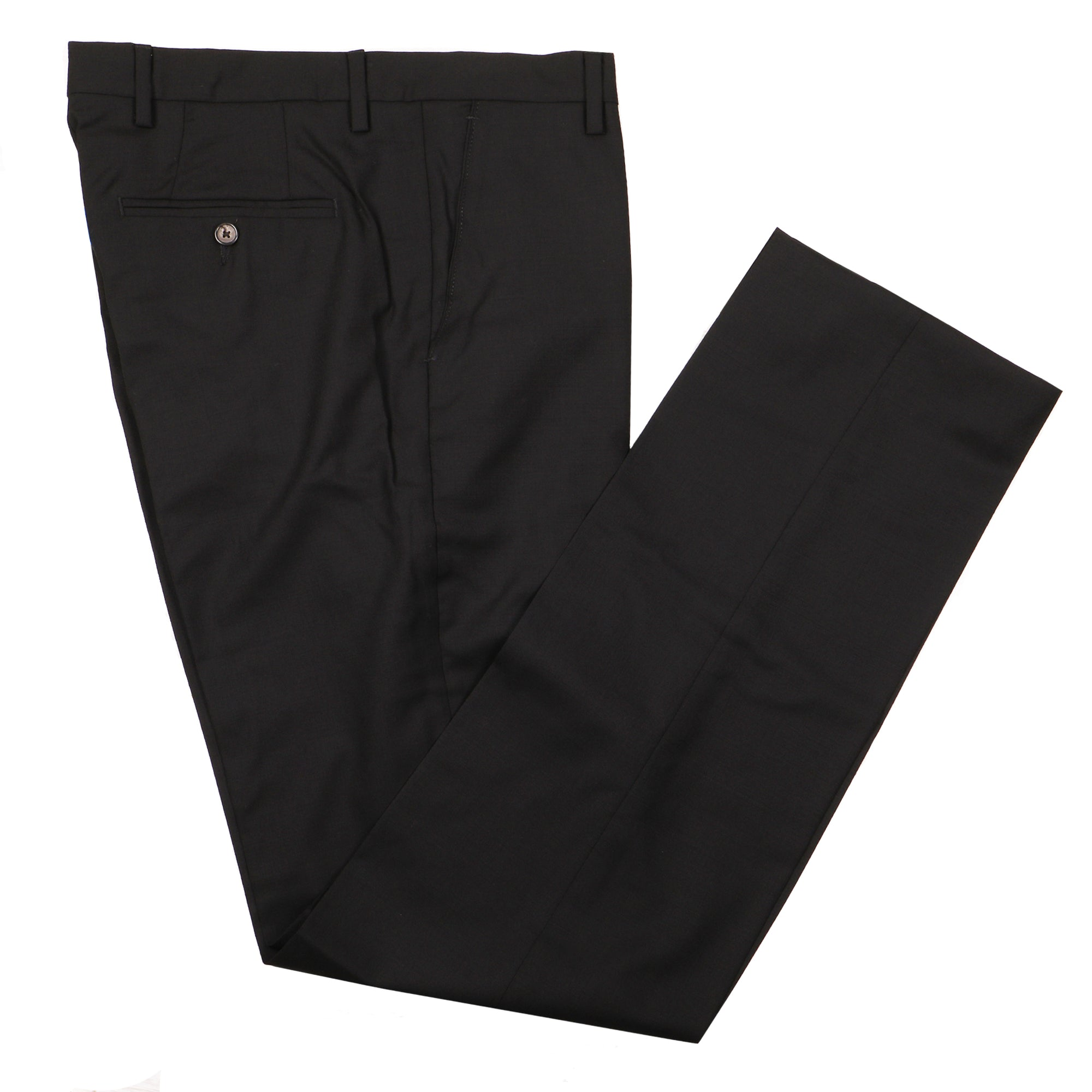 Gretna Black Tropical Wool Trousers