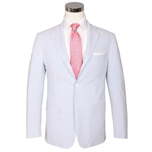 Blue Ice Seersucker Stretch Sport Coat