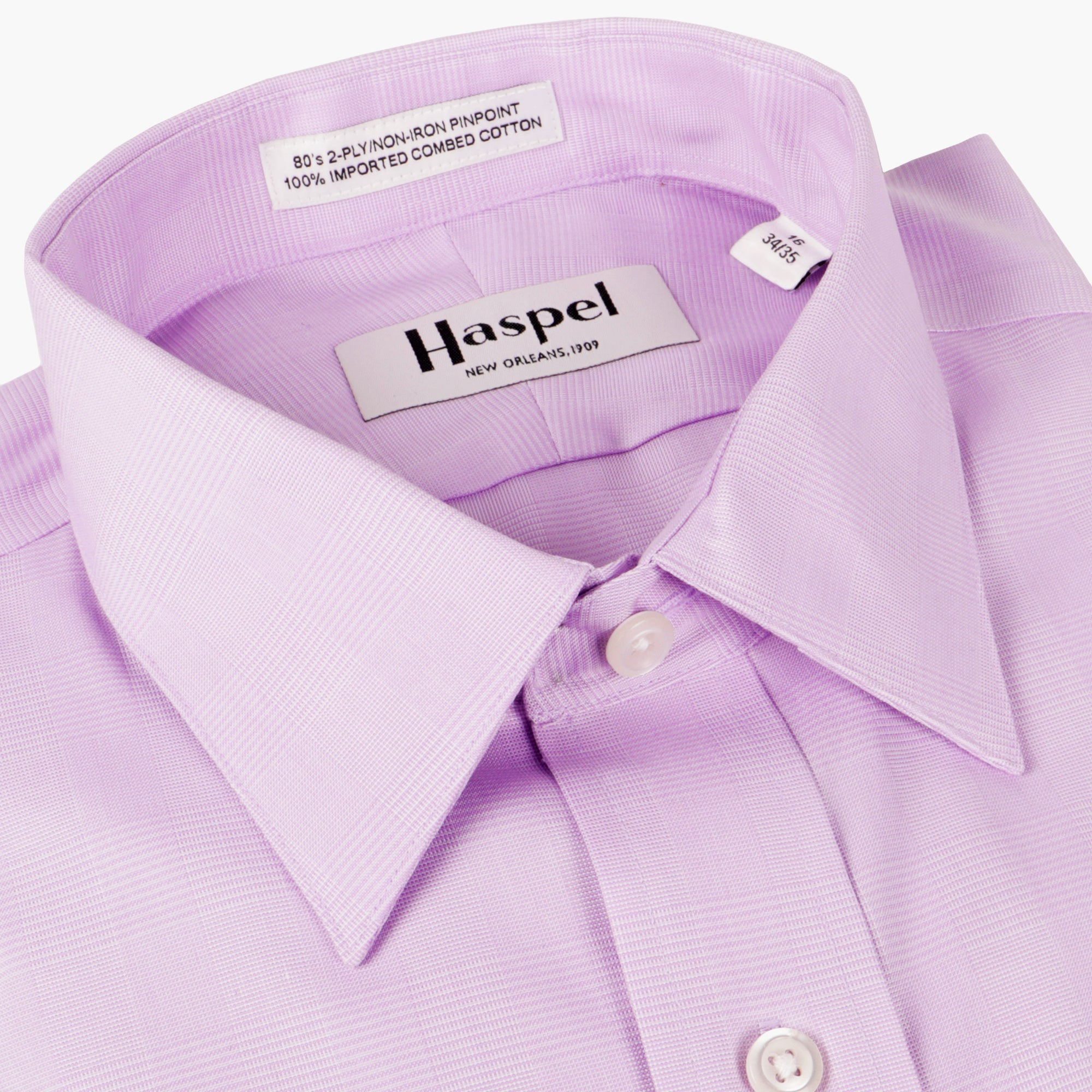 Dauphine Lavender Glenplaid Dress Shirt