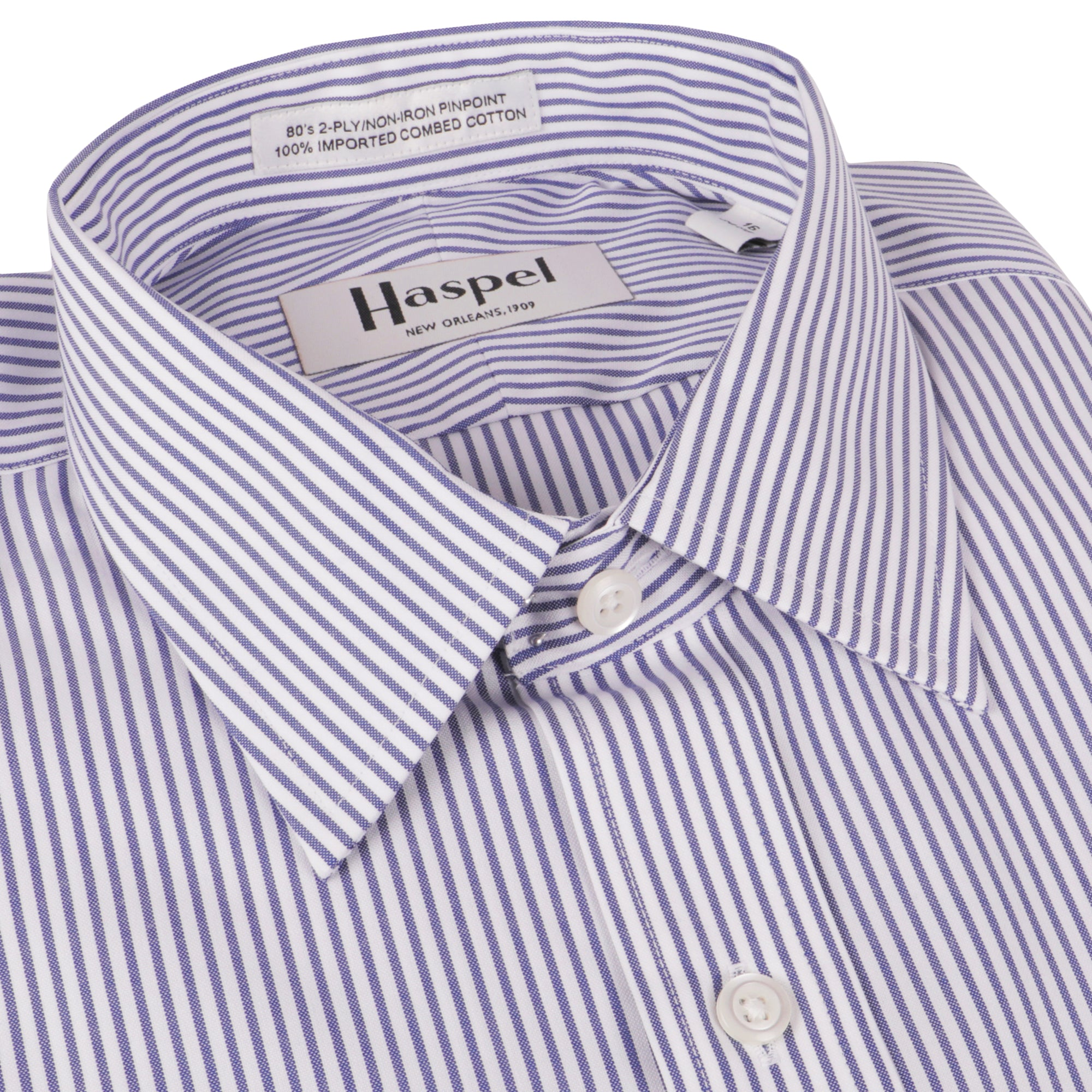Dauphine Navy Bankers Stripe Dress Shirt