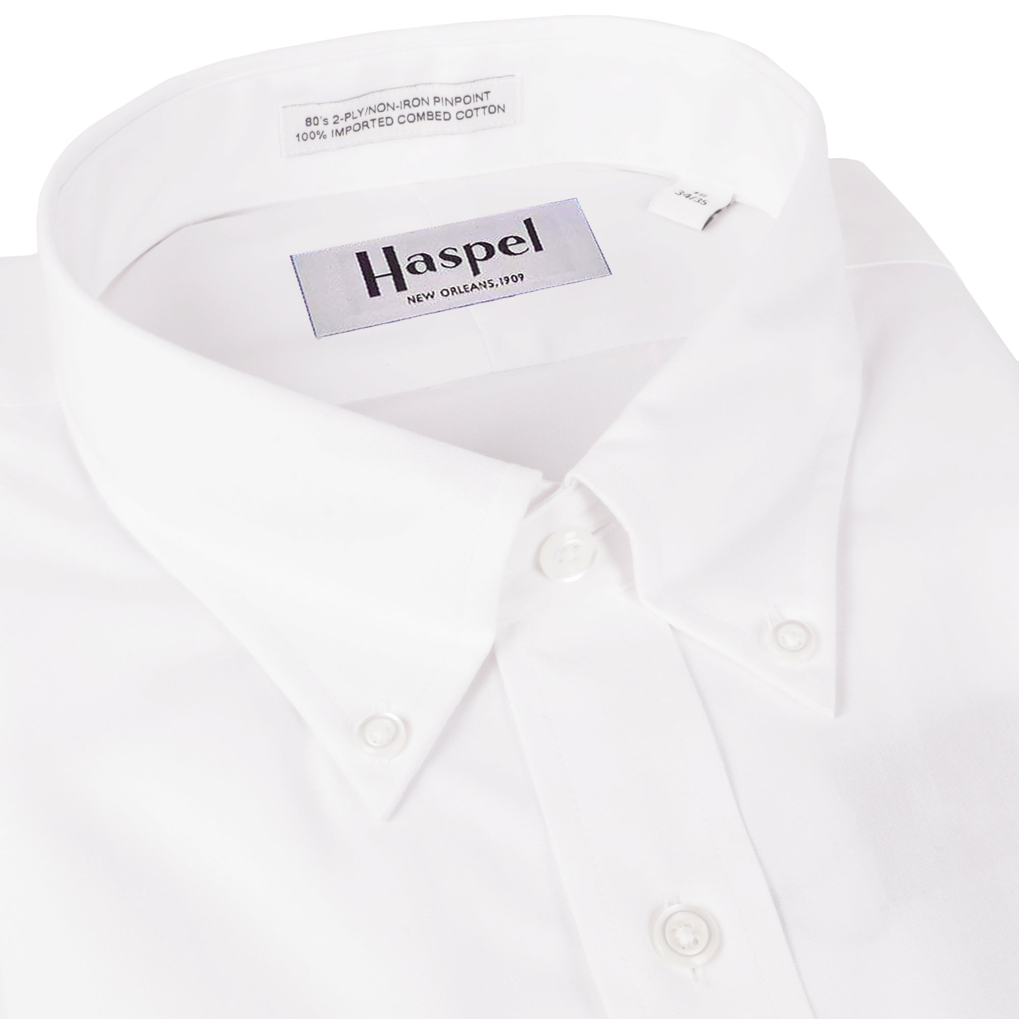 Howard Solid White Button Down Oxford Dress Shirt