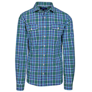 Earhart Blue & Green Exploded Plaid