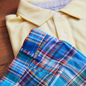 Fulton Yellow Stretch Pique Polo