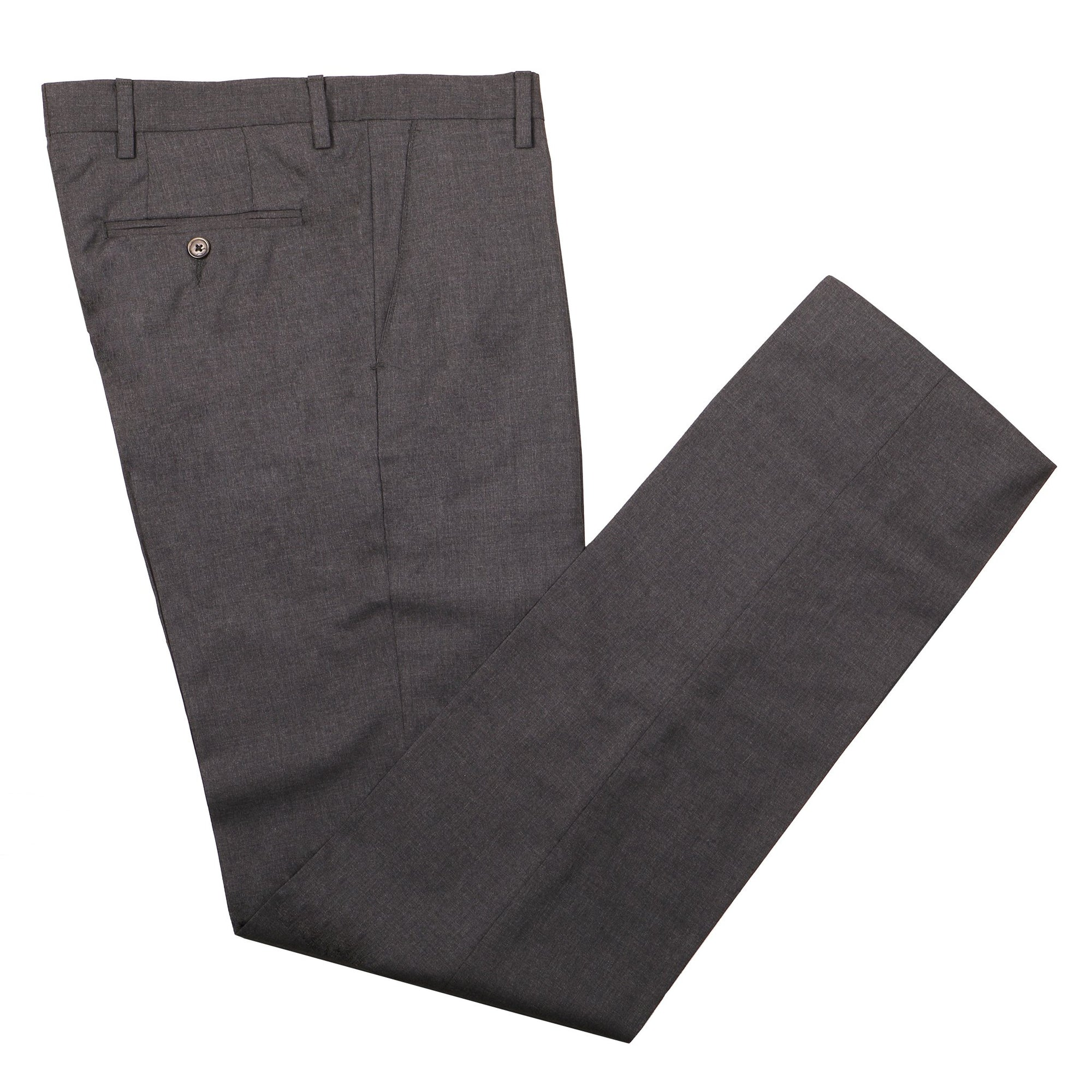 Gretna Slate Grey Tropical Wool Trousers