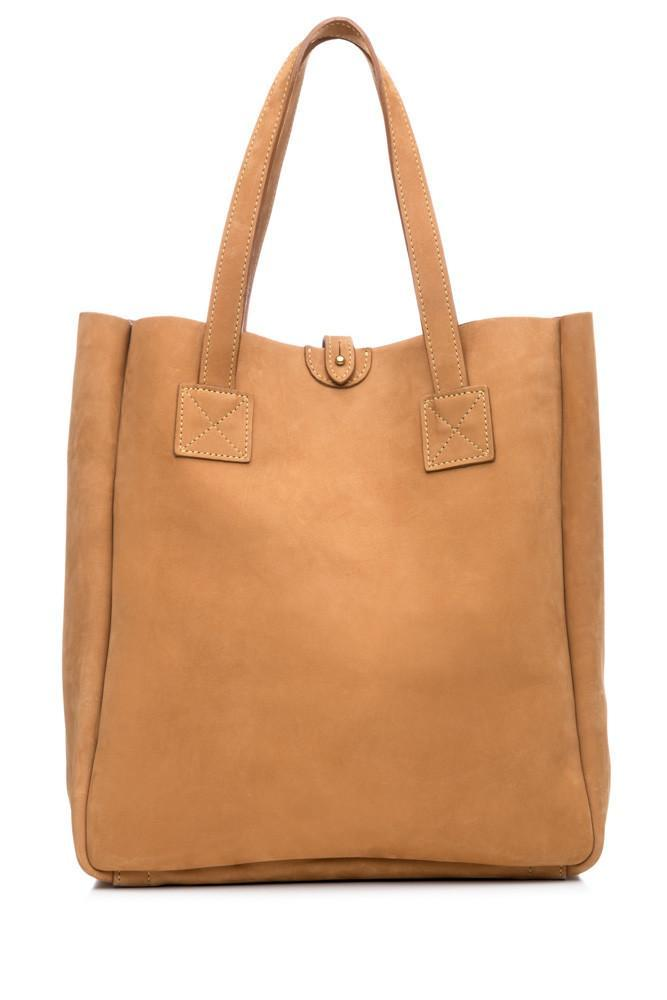 HASPEL MULHOLLAND AMERICAN BISON SMALL BOX TOTE BAG