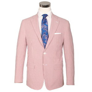 Hurricane Red Seersucker Stretch Sport Coat