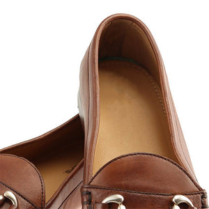 Haspel x T.B. Phelps Sheepskin Bit Loafer - Pecan Sheepskin