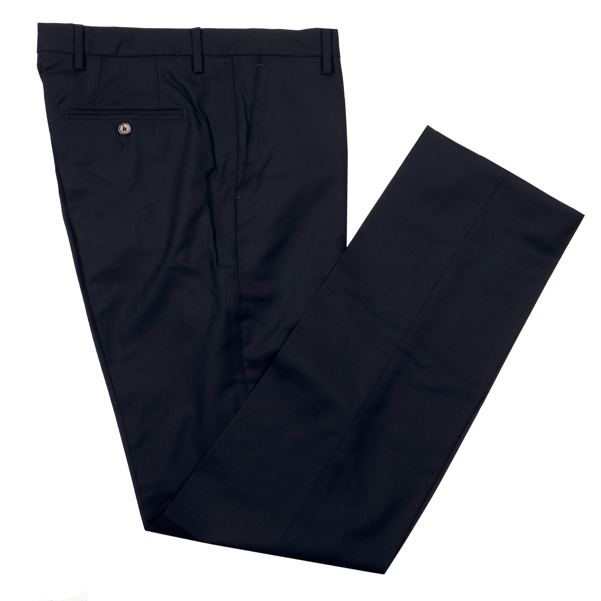 Gretna Navy Tropical Wool Trousers