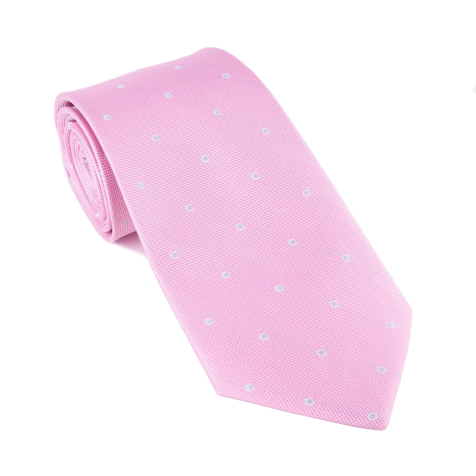 Pink Shadow Dot Tie - Haspel Clothing