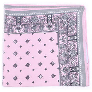 Silk Pocket Square With Paisley Design
